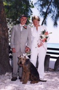 Molly the bridesmaid at our wedding in Barbados