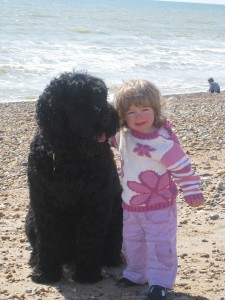 Two best friends on Brighton Beach